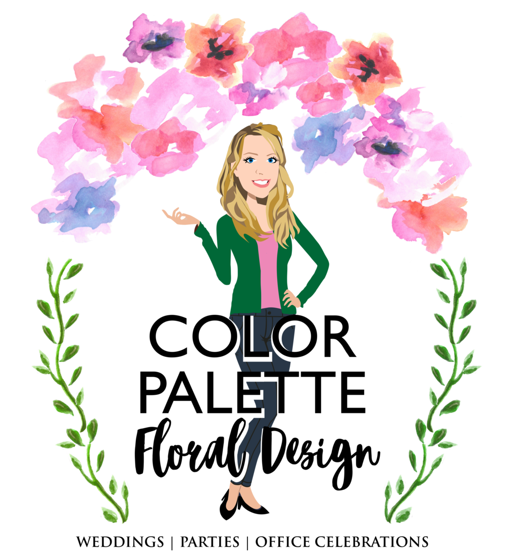 Final Design of Custom Portrait illustration - Here is the final design that Therese approved. It is a beautiful vector illustration of her as an Event Floral Design Business owner.This type of design works wonderfully for female entrepreneurs!Check out her Etsy shop here to look for beautiful floral wedding and home decor.
