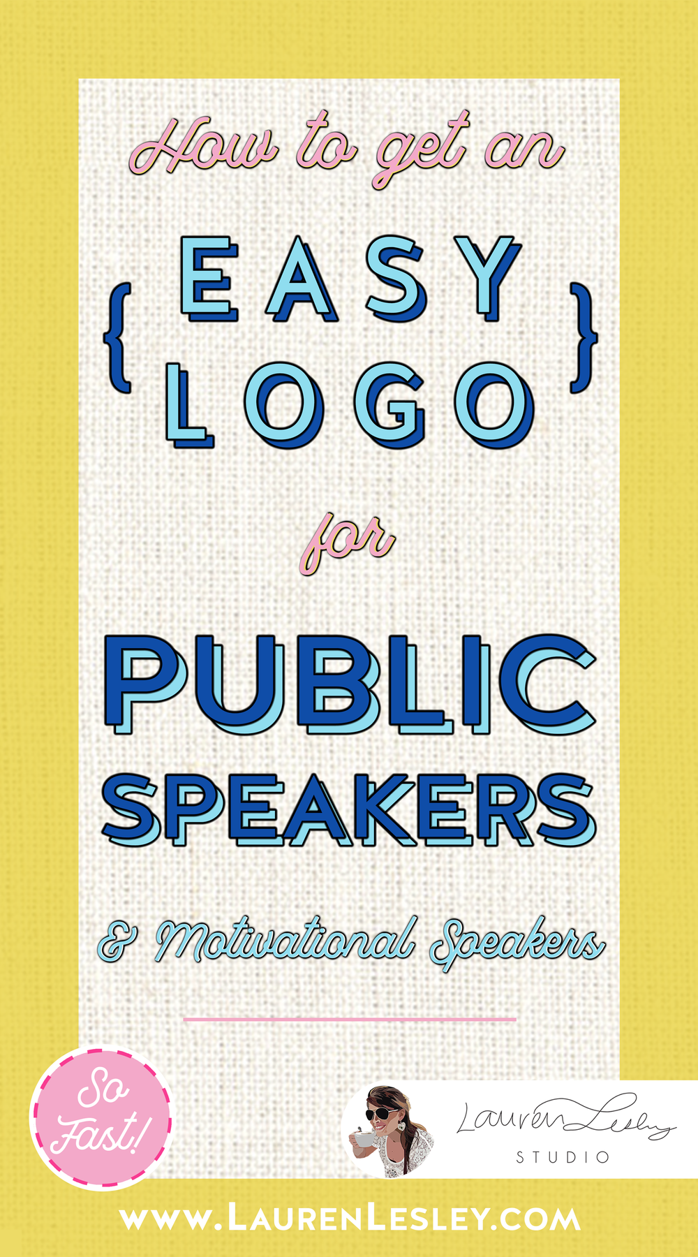 Get a Custom Logo for your Public Speaking or Motivational Speaking Business