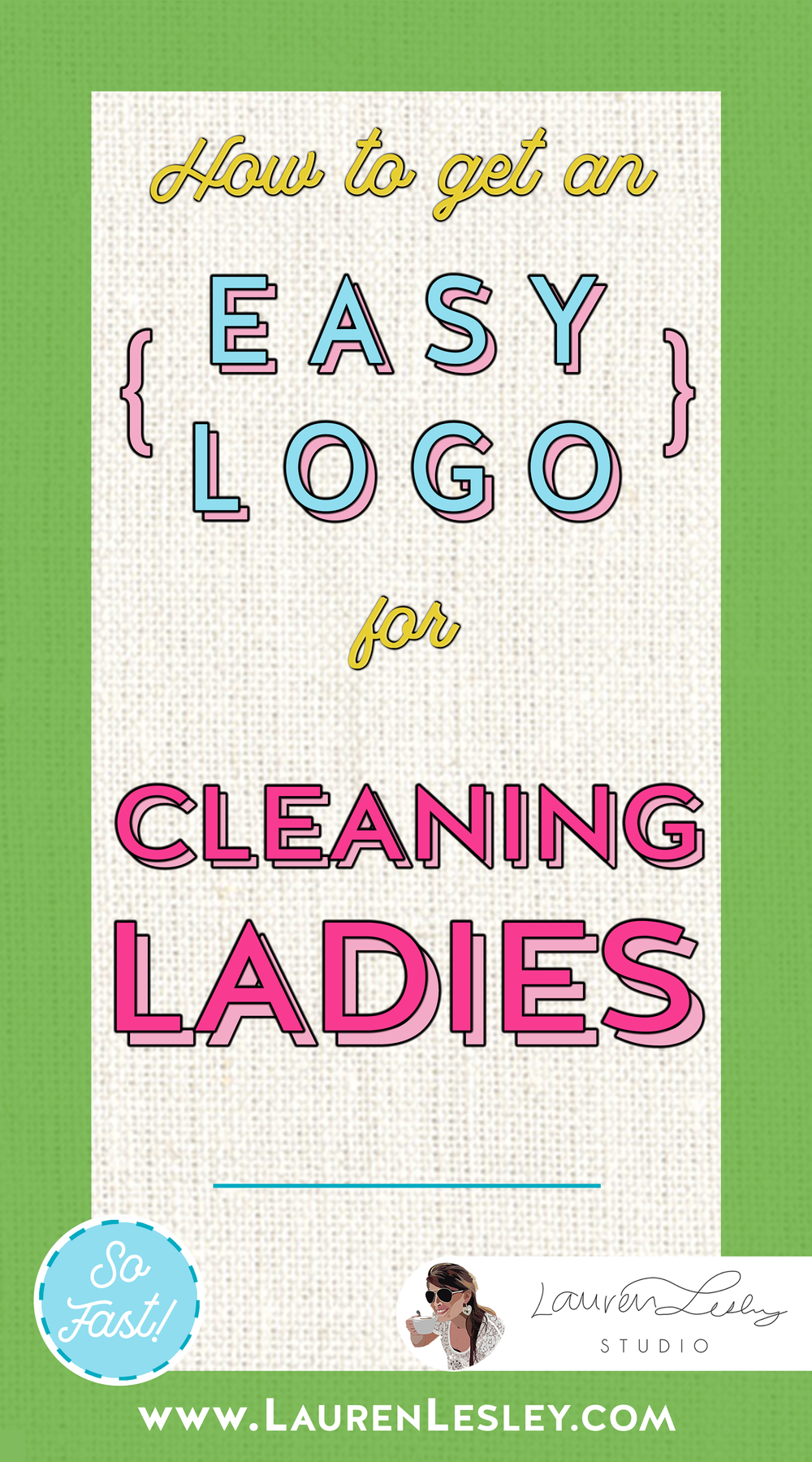 Get a Custom Logo Design for Cleaning Ladies
