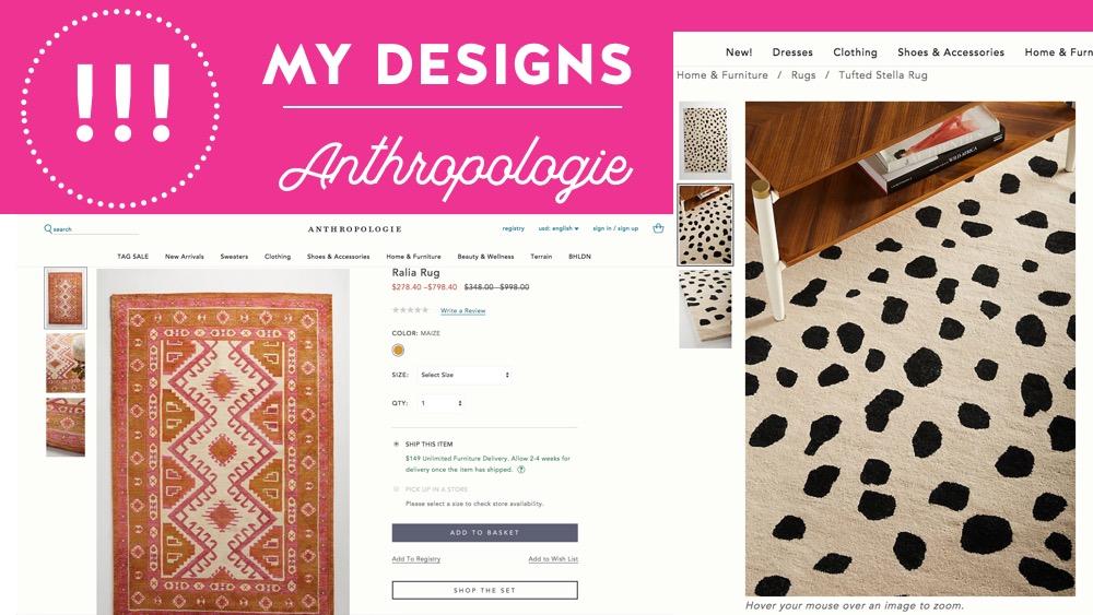 Anthropologie rug designs