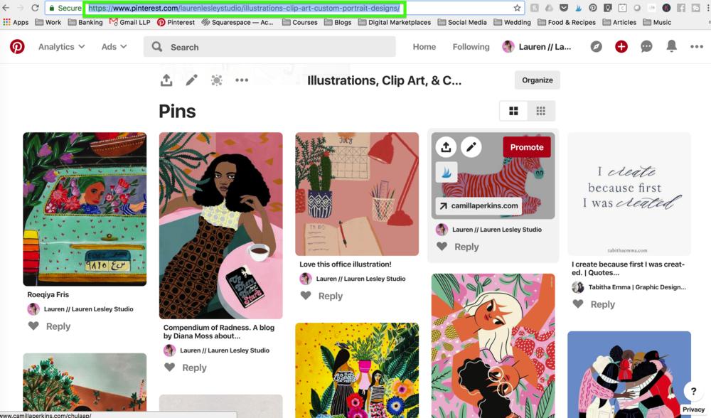 Pinterest Board URL for widget