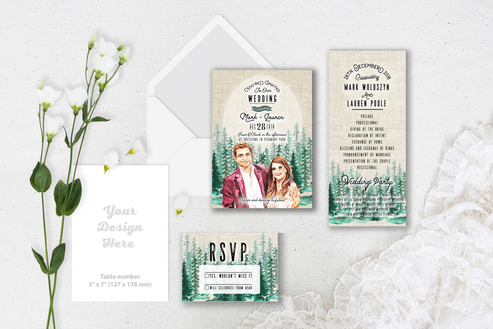 Wedding Invitation Suite - Custom