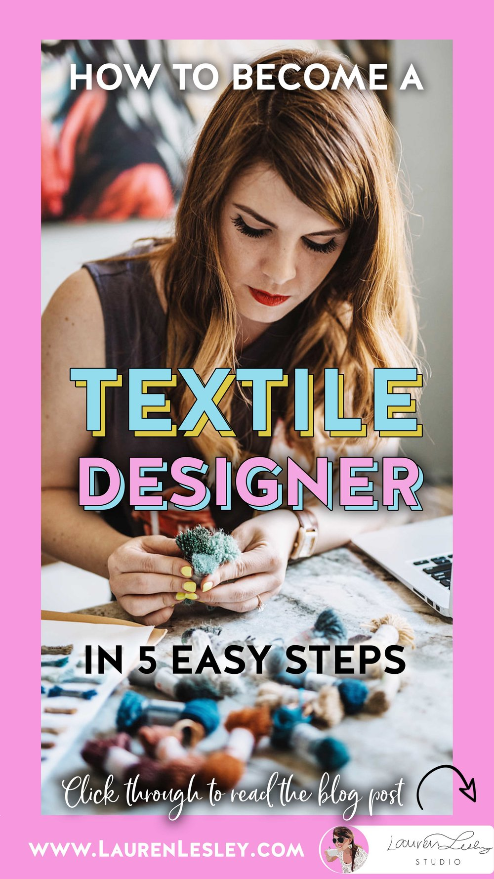 Become a Textile Designer Today - With my 5 easy tips for getting started!