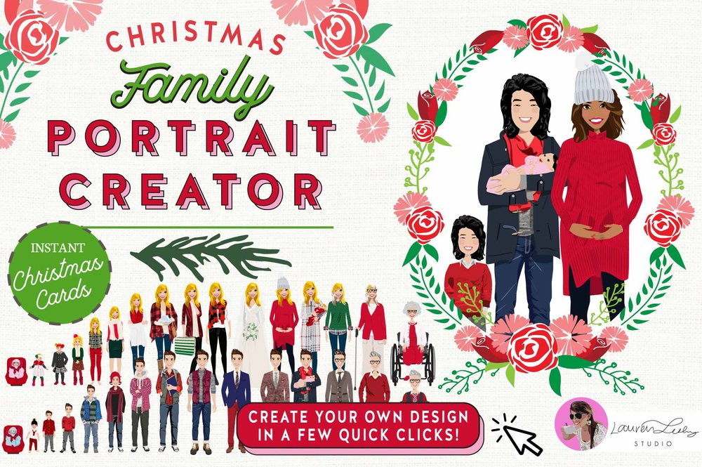 Christmas Family Portrait Design Creator