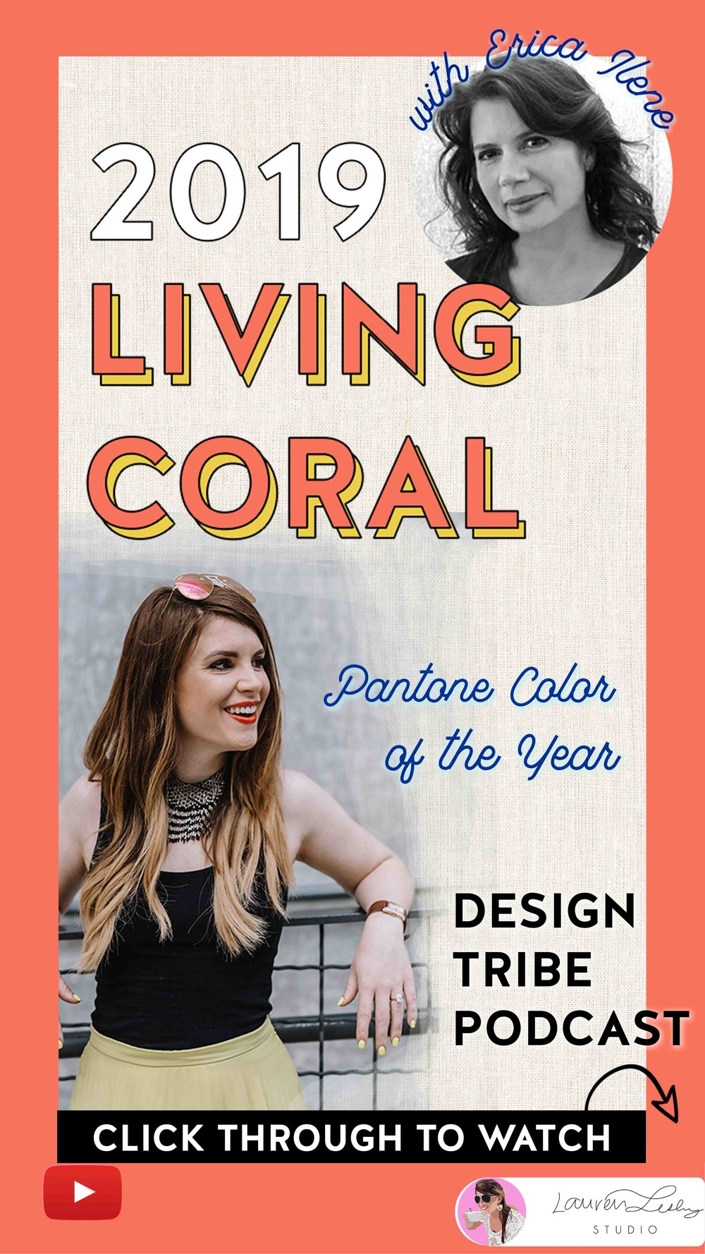 Living Coral Color of the Year 2019 Pantone - Discussed by real designers with special guest, Erica Ilene.