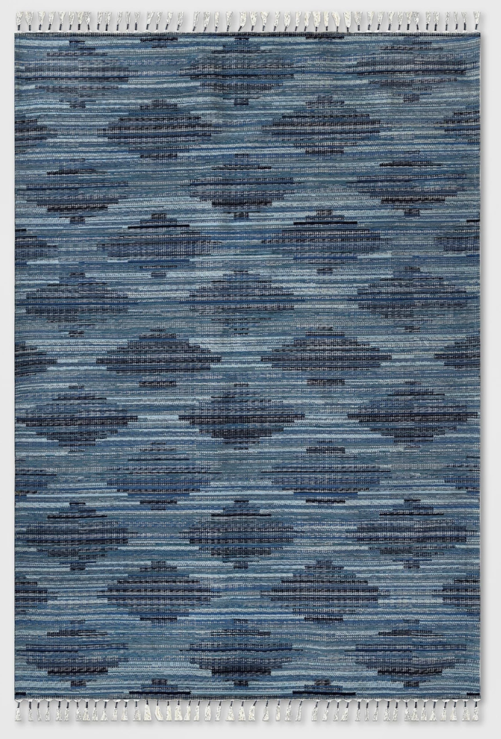Diamond Tassel Outdoor Rug Blue - Opalhouse™