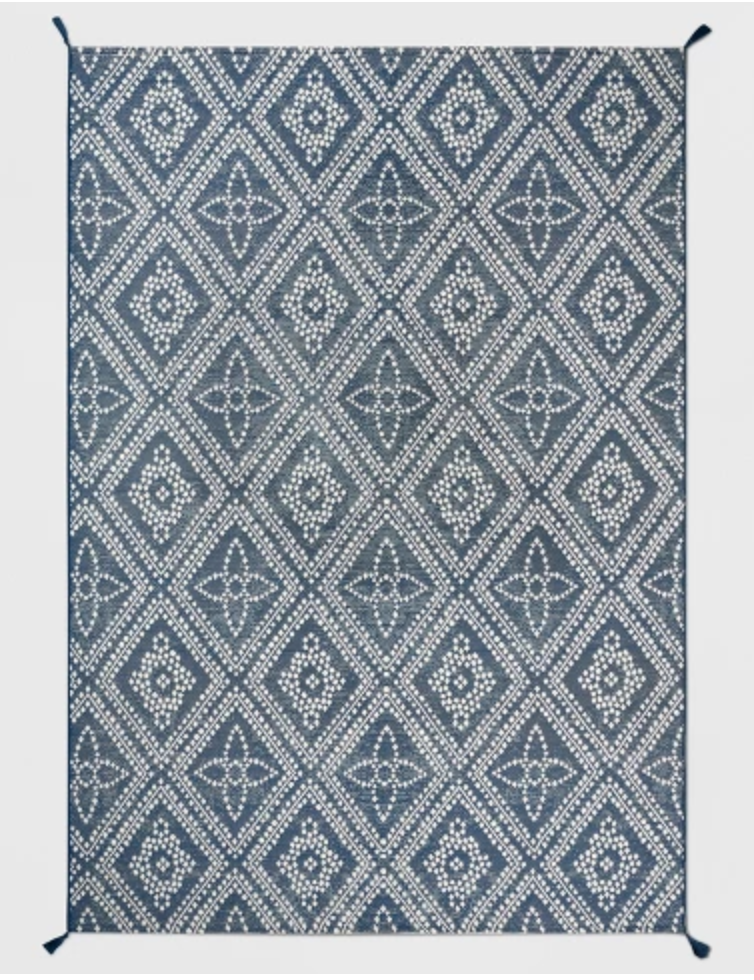 Dot Diamond Outdoor Rug Blue - Threshold™