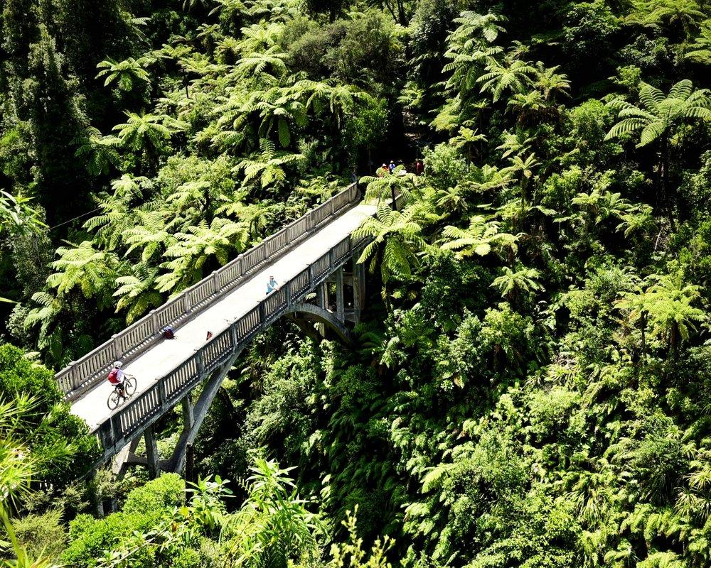 The Bridge to Nowhere mountain bike trail
