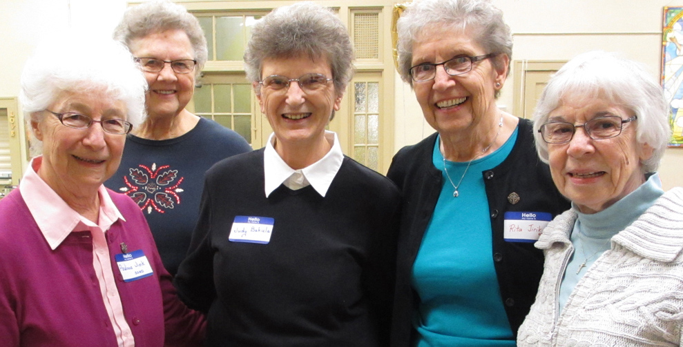 Sisters Paulissa Jirik, Mary Gen Olin, Judy Bakula, Rita Jirik , and Jane Thibault. Sisters Judy Bakula and Rita Jirik created the Theresa Living Center in 1987.