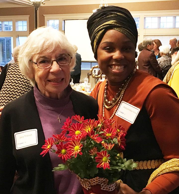Sister Jane Thibault, SSND,and Abbasheba Israel