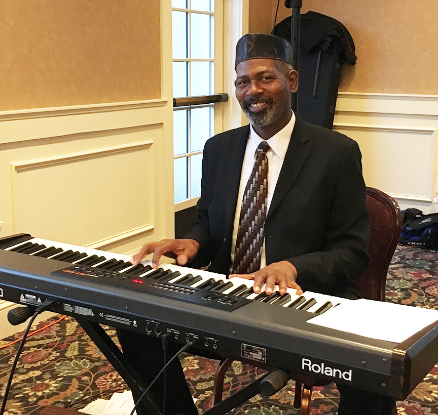 Thomas West provided wonderful music for the event.