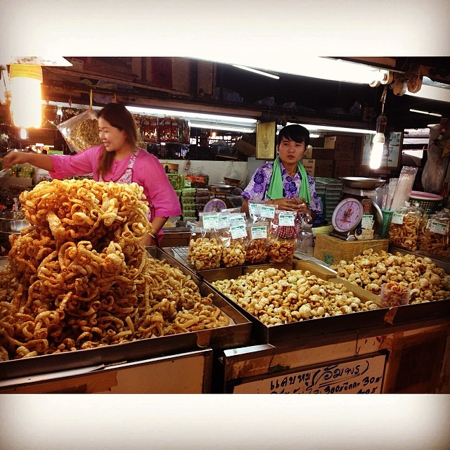 .chicharoooooon at a local market in chiang mai.   - allie
