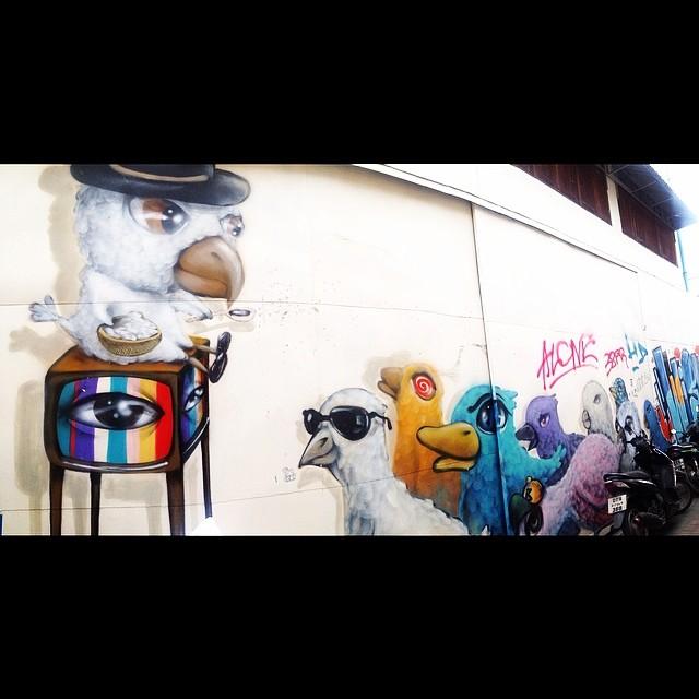 chiang mai street art.   - jonathan