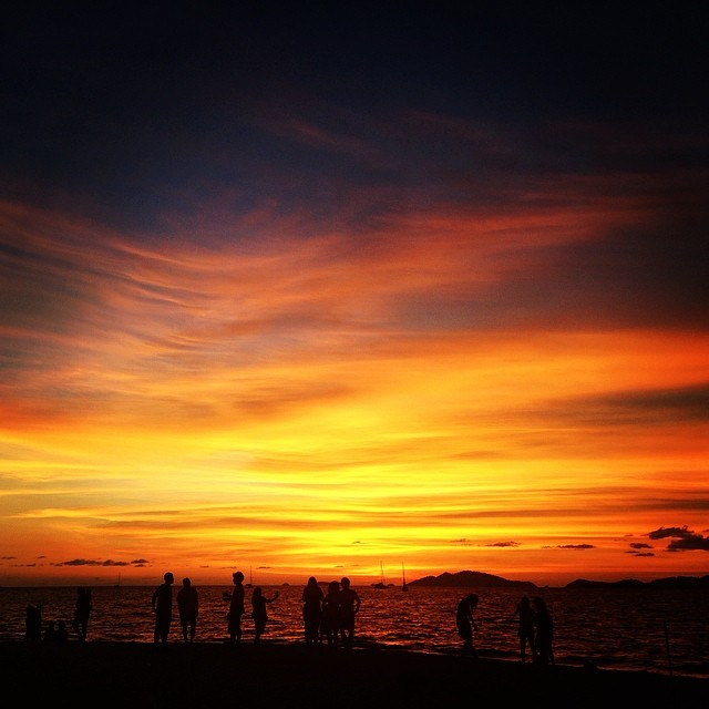 .quite possibly one of the best sunsets EVER. photo taken from the mountain resort in koh lipe, thailand.   - allie