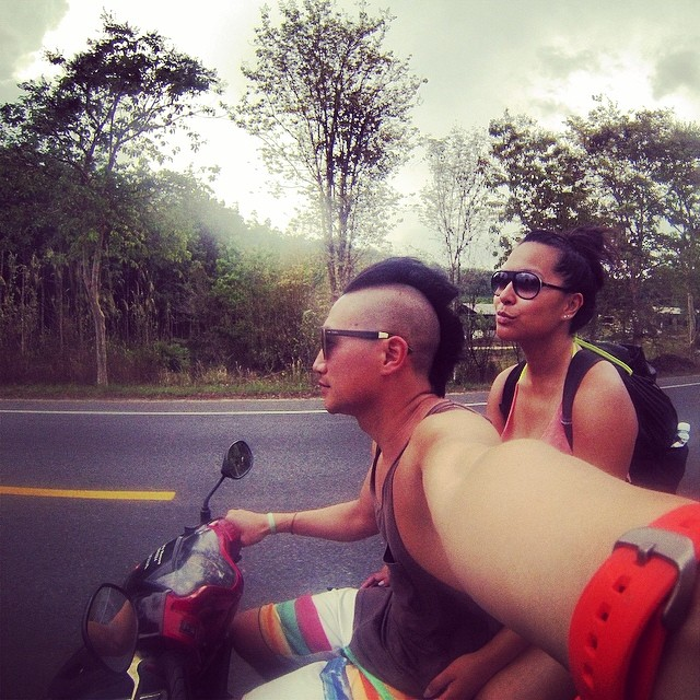 just scootin around. photo taken somewhere between khao lak and khao sak.   - jonathan