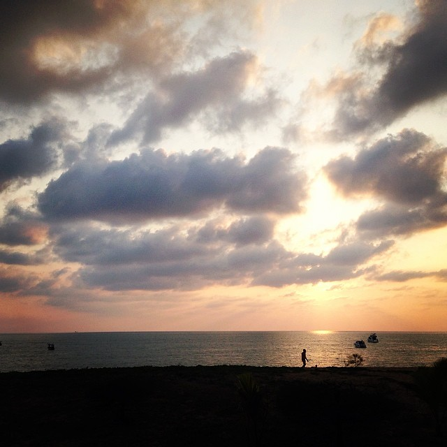 .after a 20hr journey… #webeJUNGin in thailand. the first of many sunsets.   - allie