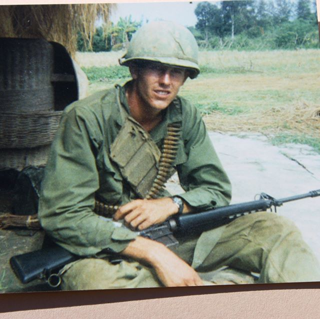 "We honor our veterans today like Mike Shurly (pictured here in Vietnam). Thank you for all you do.  As one of the subjects of #resurfacemovie Mike talks about how he likes to get in the ocean and ""just wash off"". We hope many of you get a chance to surf this weekend! #veterans #veteransuicideawareness #honorourveterans"