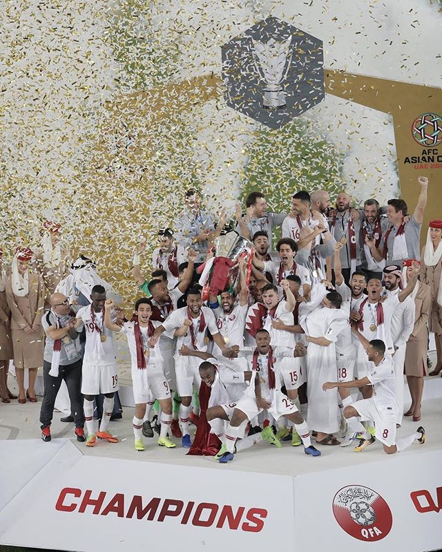 THE CHAMPIONS 🇶🇦🏆 ‎⁦‪#AsianCup19‬⁩ ⁧‫#قطر_اليابان‬⁩