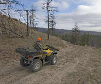 ATV have altered how hunters access the land. USFS Photo.