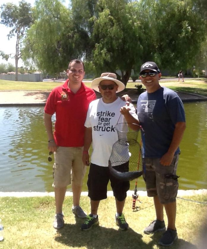 Rep. Cardenas at Desert West Lake Park on Arizona Fishing Day