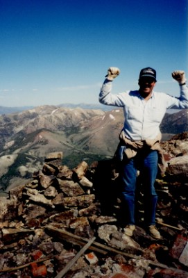 juan palma hiking the toiyabe range in central nevada while an employee of the the toiyabe national forest service.