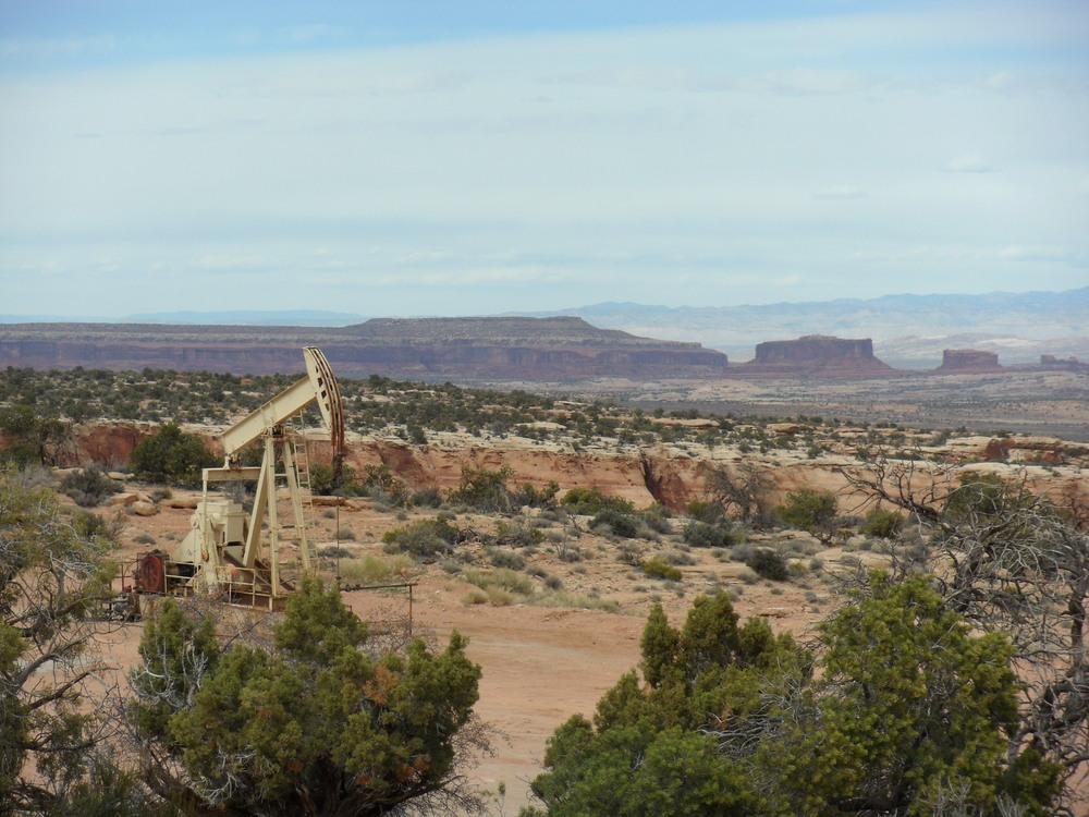 pumpjack near moab, utah