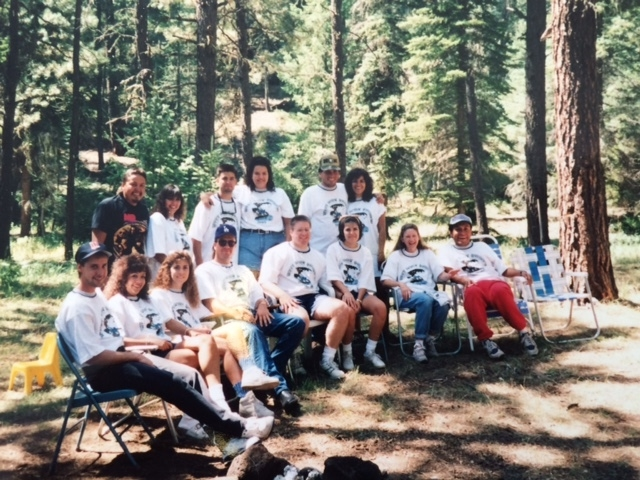 The 2005 Peru Family Reunion in the forest of the White mountains of arizona.