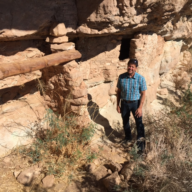 Raul Morales at an Anasazi site in Utah