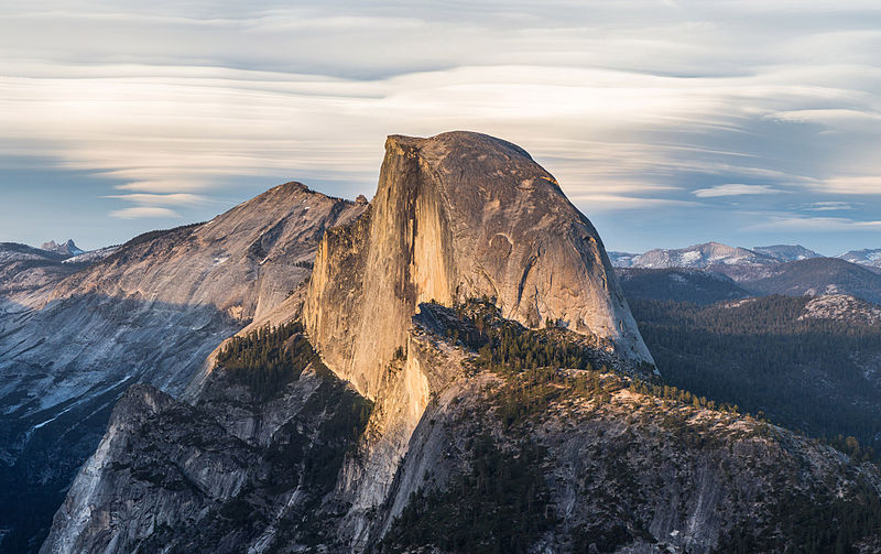 Half Dome, Yosemite National Park, CA Photo by DAVID ILIFF. License: CC-BY-SA 3.0