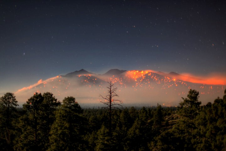Schultz Fire north of Flagstaff AZ, Photo courtesy Coconino County, Arizona