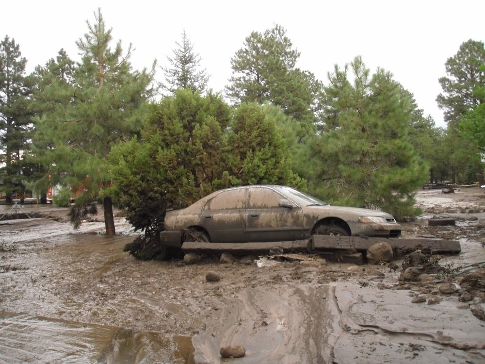 Paintbrush Corridor Flood Damaged Car