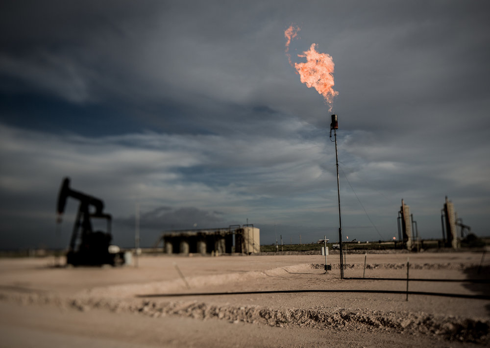 "Flaring natural gas in Eddy County, NM. The Methane Waste Rule stops the waste of publicly-owned natural gas, and protects our environment and public health. This rule is facing a rollback vote in the Senate, which would overturn the rule and prevent any other ""substantially similar"" rule to be adopted in the future.  Photo by Blake Thornberry,   CC BY-NC-ND 2.0        https://www.flickr.com/photos/91657289@N02/9647487520/in/photostream/"