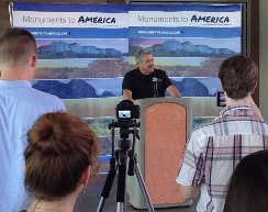 HECHO Board Member Al Martinez at the Monuments for America Press Conference in Nevada