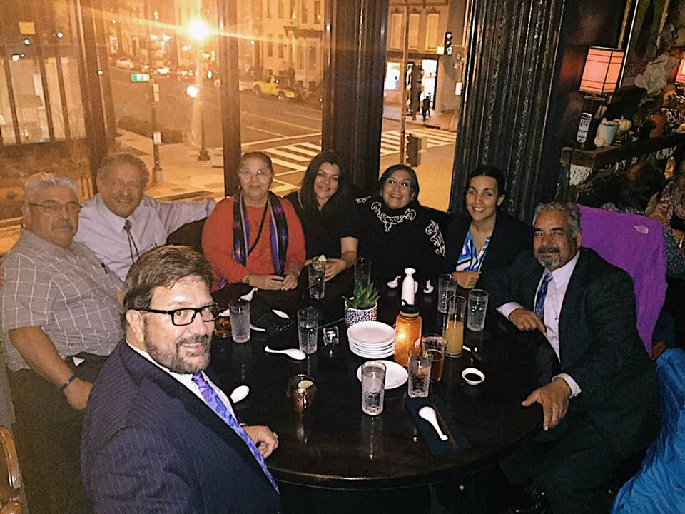 HECHO after a long day on Capital Hill (from left to right): UT State REp. Mark Wheatley, Lupe Huereña, Kent Salazar, Sylvia Huereña, Viviana Reyes, UT State Rep. Rebecca Chavez-Houck, Camilla Simon, and San Miguel County, NM Commissioner Rock Ulibarri.