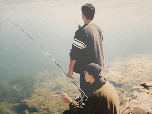 Sons Carlos and Mark fishing at Jordanelle Reservoir
