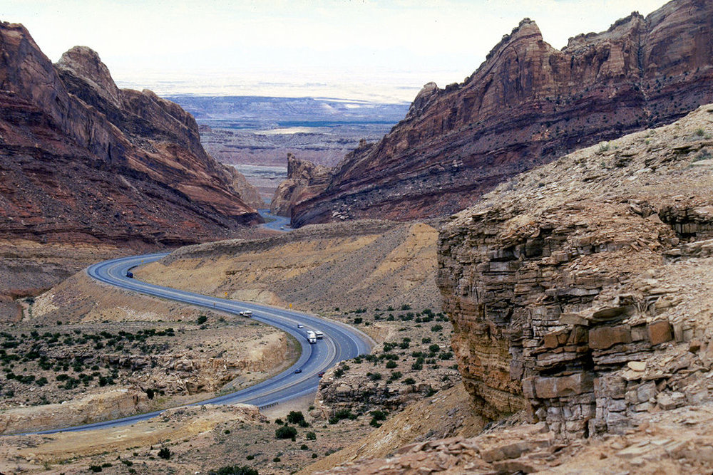 San Rafael Swell at Interstate 70. Included in the National Resources Management Act is the establishment of 663,000 acres of wilderness protections in Utah's San Rafael Swell area and Desolation and Labyrinth Canyons. | Photo credit: Dennis Adams, National Scenic Byways Online
