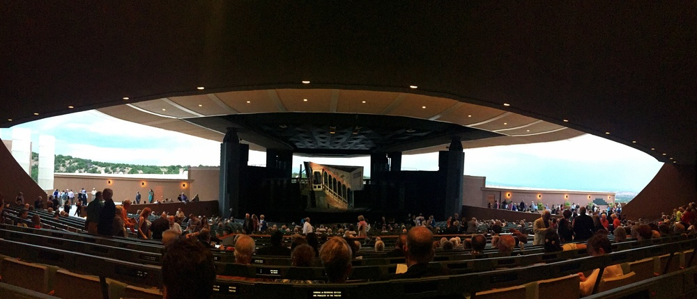 My attempt at a panorama from my seat inside the theater