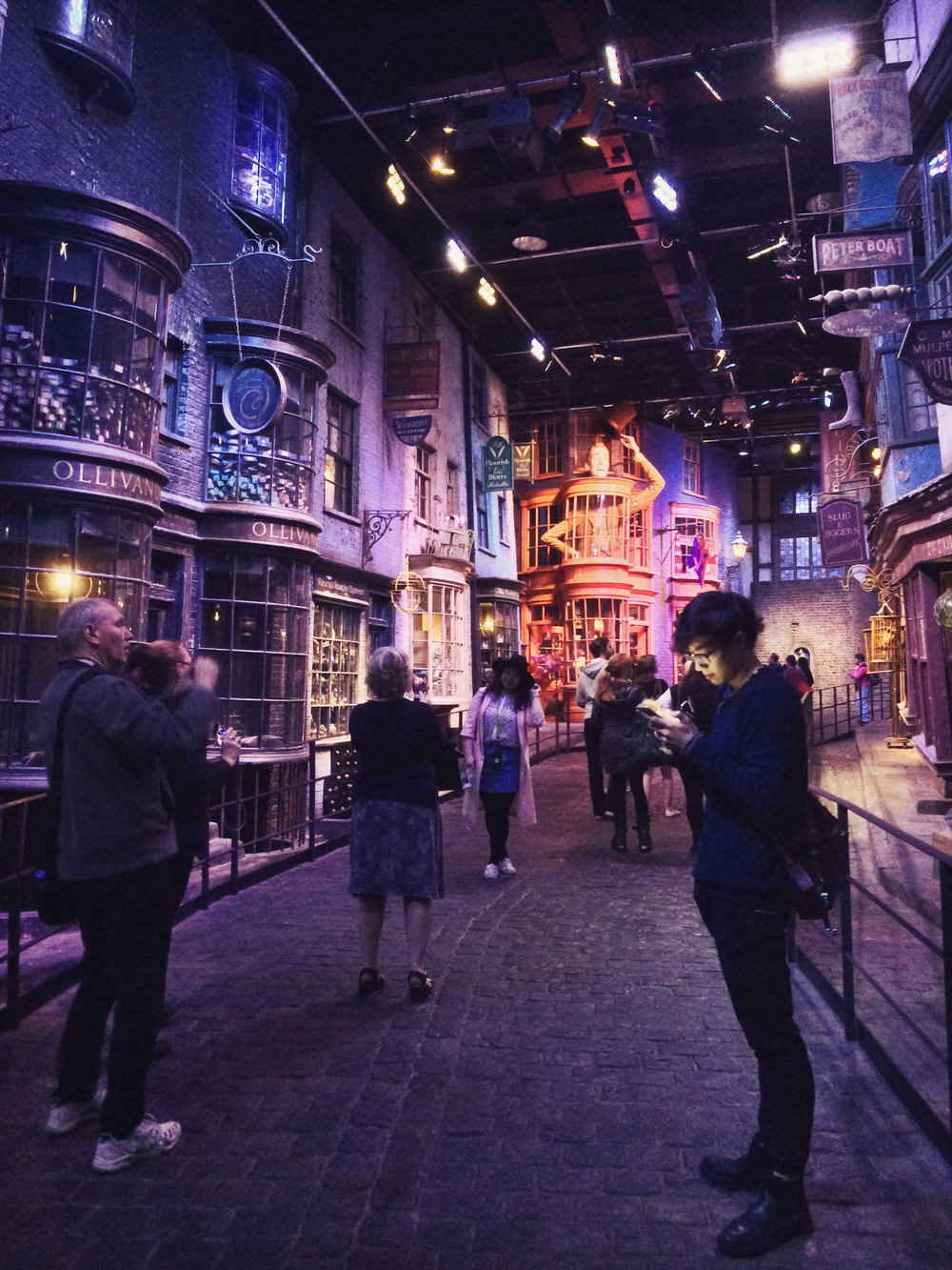 It was a particularly memorable moment getting to walk Diagon Alley.