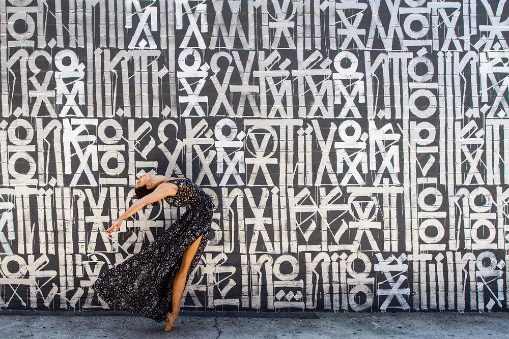 Dancer - Andie Bartol. Mural - Retna.