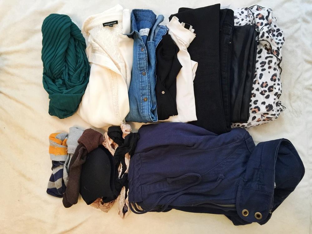Regular clothes including pajamas