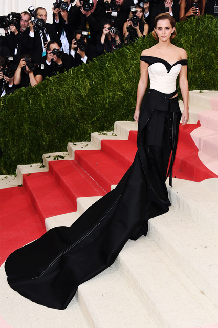 Emma Watson's Met Gala Calvin Klein dress. Photo: Venturelli/FilmMagic