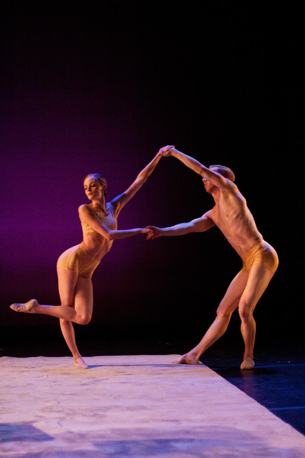 Nicole Voris and Oliver Greene-Cramer in  On Truth and Love  by Jennifer Hart.  Photo by Ballet Zaida
