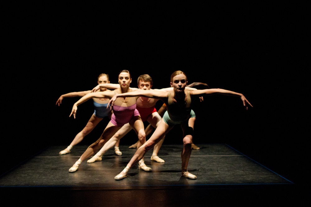 Nicole Voris, Oren Porterfield, Ian J. Bethany, Grace Morton, and Preston Patterson in  Lightspace  by Jennifer Hart.  Photo by Ballet Zaida