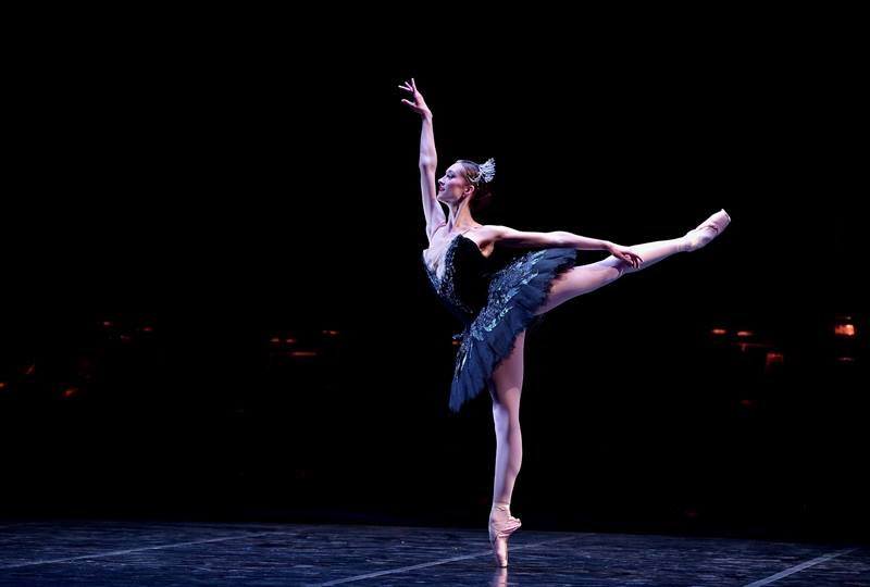 Black Swan.  Photo by Laurent Liotardo. Jeanette Kakareka of English National Ballet.