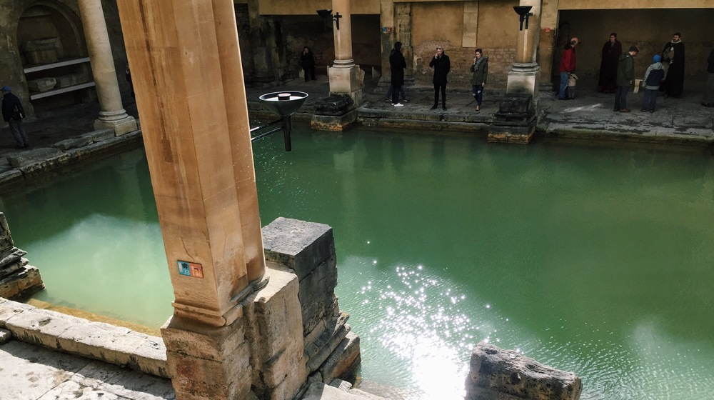 A shot of one of the stunning Roman bath pools.