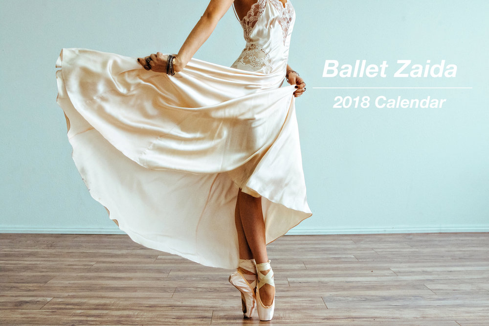 The 2018 Ballet Zaida Calendar is now available.