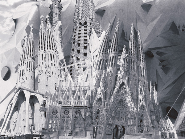 La Sagrada Familia, Digital Photo Collage, 1999