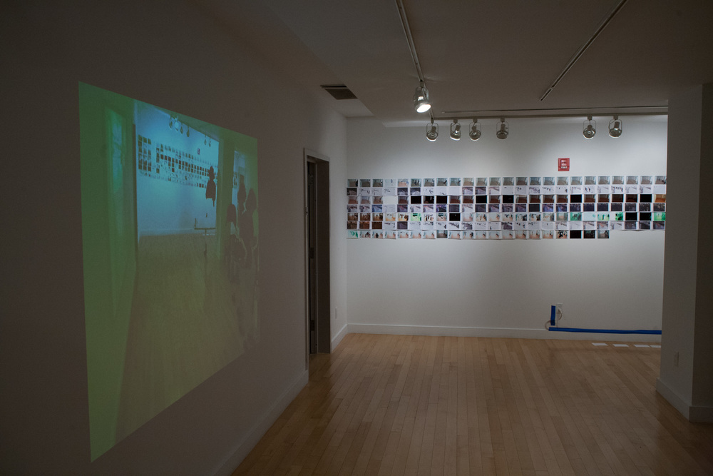 View of Automated Digital Photo Collage installed in Hudson Guild Gallery, 2013