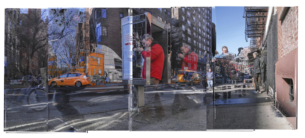 Panoramic Automated Digital Photo Collage generated on Greenwich and Jane, 12.2018