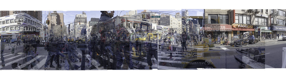 Panoramic Automated Digital Photo Collage generated on 23rd St and 8th Ave. 10.2018